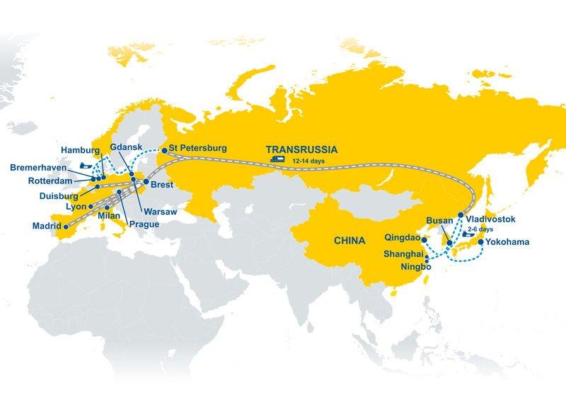Transrussia - nowe połącznia kolejowe z Azji do Europy